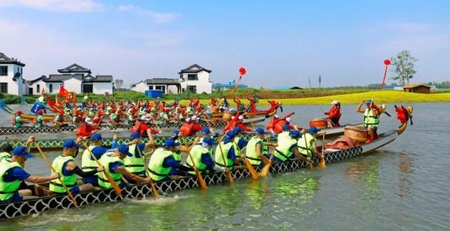 沔阳小镇5.1活动 划龙舟、赏烟花、逛乐园