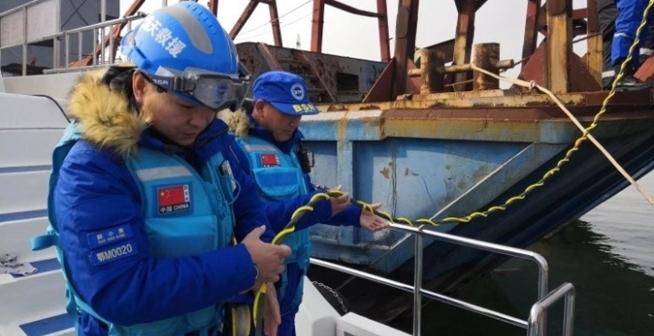 1月16号荆州沉船事件-仙桃蓝天救援队在行动