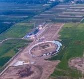 華潤電廠最新航拍照片,兩個冷卻塔基礎已能