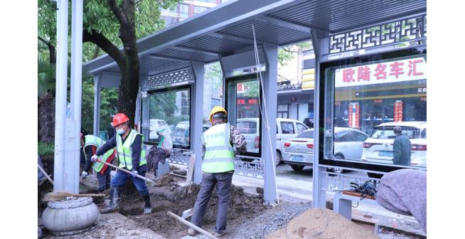 仙桃50座公交候车棚改造完成 110个公交站牌